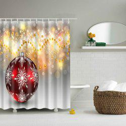 Bathroom Waterproof Shiny Pearl Pattern Shower Curtain