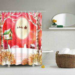 Bathroom Decor Merry Christmas Design Polyester Shower Curtain - COLORMIX L