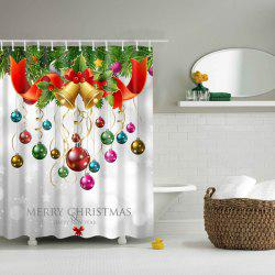 Bath Decor Waterproof Polyester Merry Christmas Shower Curtain