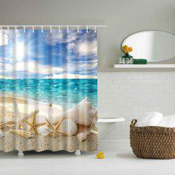 Bath Decor  Beach Shell Printed Waterproof Polyester Shower Curtain
