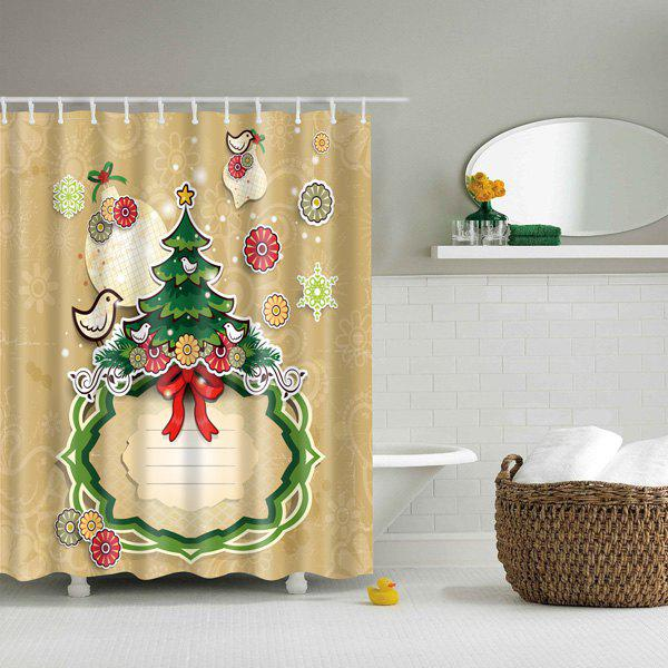 Outfits Thicken Merry Christmas Design Waterproof Polyester Shower Curtain