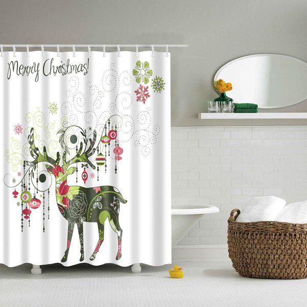 Creative Christmas Deer Design Polyester Shower CurtainHOME<br><br>Size: L; Color: COLORMIX; Type: Shower Curtains; Material: Polyester; Weight: 0.540kg; Package Contents: 1 x Shower Curtain;