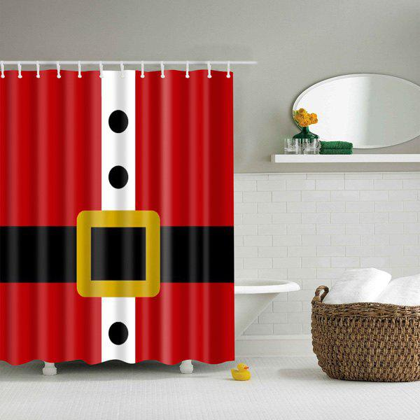 Creative Belt Pattern Waterproof Polyester Bath Shower CurtainHOME<br><br>Size: M; Color: RED; Type: Shower Curtains; Material: Polyester; Weight: 0.540kg; Package Contents: 1 x Shower Curtain;