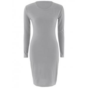 Stretchy Long Sleeves Bodycon Dress