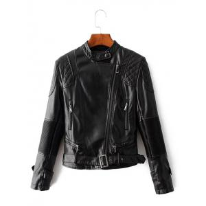 Zip Up Belted Punk Jacket