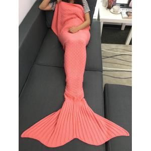Super Soft Plaid Knitted Sleeping Bag Mermaid Taid Blanket