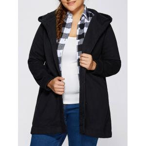 Hooded Buttoned Back Bowknot Coat