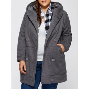 Hooded Fleece Double-Breasted Coat