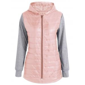 Hooded Padded Jacket - Shallow Pink - M