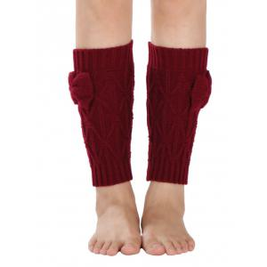 Warm Small Bowknot Rhombus Crochet Knit Boot Cuffs