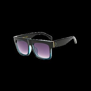 Cool Color Block Frame Rectangle Wayfarer Sunglasses