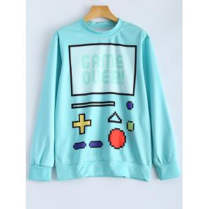 Autumn Game Over Console Keyboard Print Sweatshirt