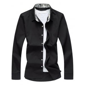Long Sleeve Floral Collar Shirt