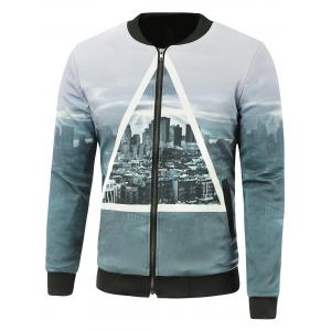 Zip-Up City Printed Jacket