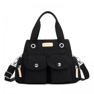 Pockets Magnetic Closure Zippers Tote Bag