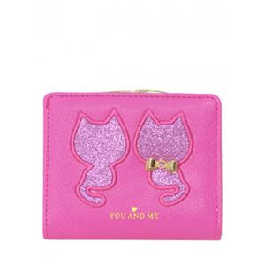 Embroidered Sequins Bi Fold Mini Wallet