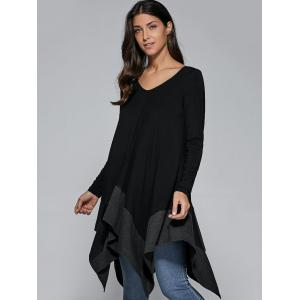 Loose Fitting Handkerchief Blouse