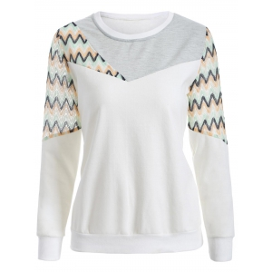 Crew Neck Panelled Sweatshirt