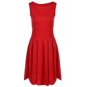 Scoop Neck Vintage Cocktail Swing Dress