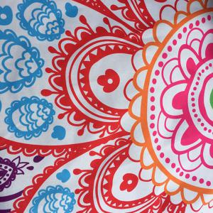 Multicolor Indian Mandala Paisley Lotus Shape Beach Throw - BLUE ONE SIZE