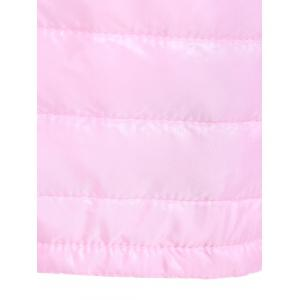 Slim Quilted Winter Jacket with Hood - PINK XL