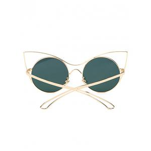 Cool Hollow Out Leg Cat Eye Mirror Sunglasses -