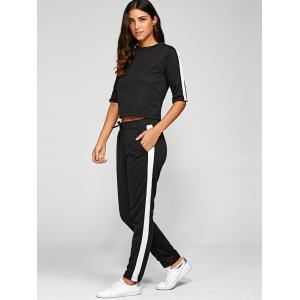 1/2 Sleeve T Shirt With Pants -