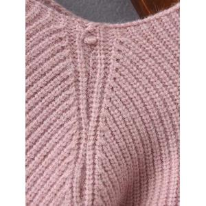 Bell Sleeve Boat Neck Jumper - PINK ONE SIZE