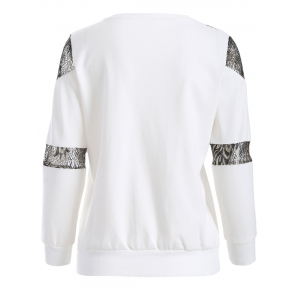 Empiècements en dentelle Sweatshirt -
