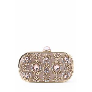 Faux Jewel Metal Trimmed Evening Bag