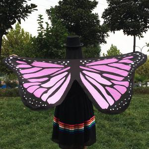 Butterfly Wings Shape Scarf - LIGHT PURPLE