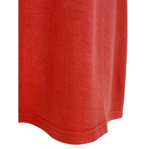 Collarless Ombre Open Front Coat - ORANGE RED 3XL