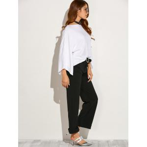 Boat Neck Split Sleeve Top -
