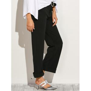 Belted Roll-Up Wide Leg Pants -