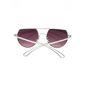 Cool Hollow Out Leg Scrape Off Top Mirror Sunglasses - ICE BLUE