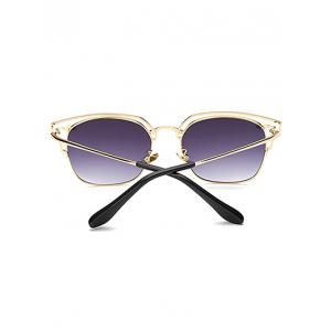 Cool Hollow Out Irregular Square Sunglasses -