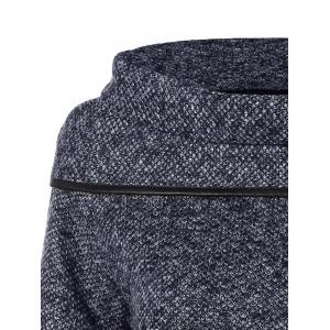 High Neck Asymmetrical Knitted Sweater - GRAY ONE SIZE