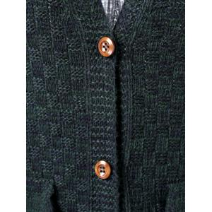 Double Pockets Plaid Cardigan -