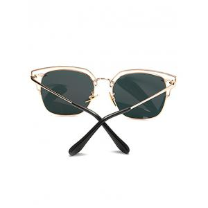 Cool Hollow Out Irregular Square Mirror Sunglasses -