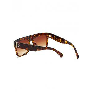 Rectangle Faux Amber Polarized Sunglasses - TEA COLORED