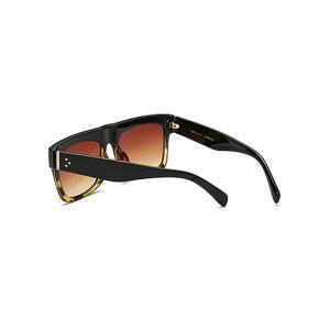 Cool Hawksbill Patch Frame Rectangle Sunglasses -