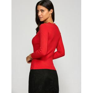 Cut Out Slimming Knitwear -