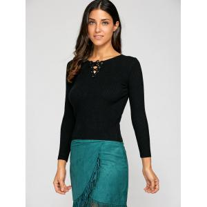 Lace Up Slimming Knitwear -
