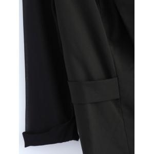 Plus Size Sheer Sleeve Blazer - BLACK 5XL