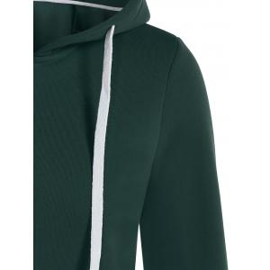 Zip Up Drawstring Pocket Conception Hoodie -