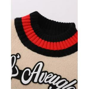Kitten Embroidered Ribbed Sweater -
