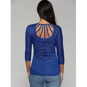 See Through Back Hollow Out Blouse -