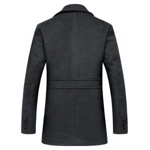 Lapel Collar Single Breasted Wool Blend Coat -