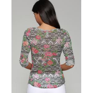 Printed Slimming Blouse -