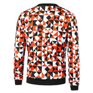 Zip-Up Triangle Printed Jacket -
